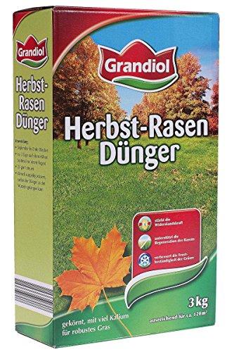 Grandiol® Herbstrasendünger 3kg - ausreichend für 120m² - für alle Rasenarten geeignet