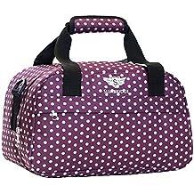 Slimbridge Mora 35x20x20cm pequeña bolsa de equipaje de mano de Ryanair, Púrpura Polka Dot