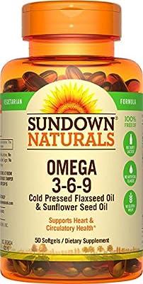 Omega 3-6-9, Vegetarian, 50 Softgels - Rexall Sundown Naturals by Rexall Sundown Naturals