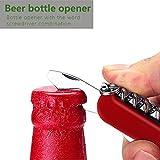 Kivors® Elektronisches USB Heizdraht Mini Winddichte Flammenlose Feuerzeug Mit Messer Flaschenöffner Tragbar - 6