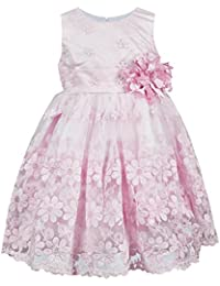 ChipChop Kids Girls Partywear Pink Lace Sleeveless Dress - 2 to 3 Years, 3 to 4 Years, 4 to 5 Years