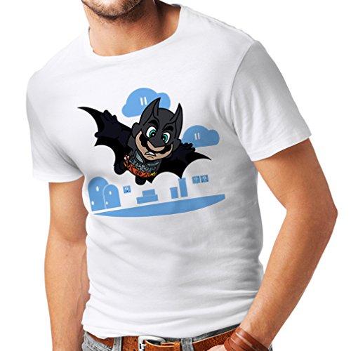 N4328 Männer T-Shirt Superheld ! (X-Large Weiß Mehrfarben) -