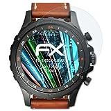 atFoliX Panzerfolie für Fossil Q Nate Folie - 3 x FX-Shock-Clear stoßabsorbierende ultraklare Displayschutzfolie