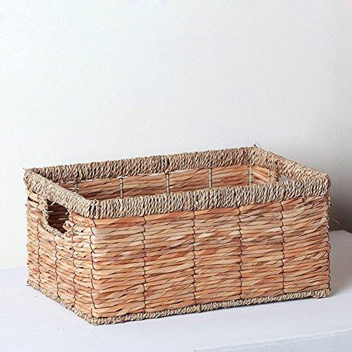 XBRla boîte de stockage stockage bureau bureau de paille nordiques basket case.,une couleur primaire tissu libre,18cm tuba 42 * 31 *