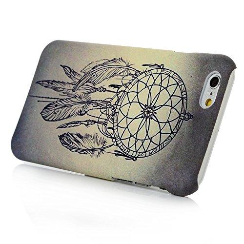 iPhone 6 / iPhone 6S Custodia Cover Bumper PC Case, YOKIRIN Dipinto Albero a Foglia Sollievo Protettiva Portafoglio Protettivo Copertura - Campanula Campanula