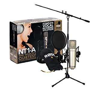 rode nt1 a microphone set including condenser camera photo. Black Bedroom Furniture Sets. Home Design Ideas