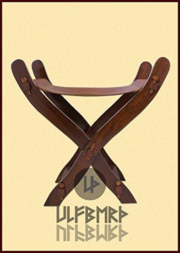 Moyen-ge-Ciseaux-Chaise-avec-sige-en-cuir-LARP-Roulement-vie-Viking-Tabouret