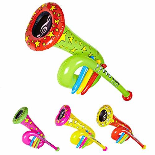 Aufblasbare Tuba Accessoire Clown Kostüm grün Musikinstrument zum Aufblasen Zirkusparty Zubehör Instrumentenimitat Tuba Imitat (Grüne Aufblasbare Kostüm)