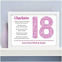Personalised 13th 16th 18th 21st 30th 40th 50th 60th 70th Birthday Gifts for Her Him Girls Daughter Sister Son Boys Brother Mum Dad Grandparents Best Friends - A5, A4, A3 Prints - 18mm Wooden Blocks