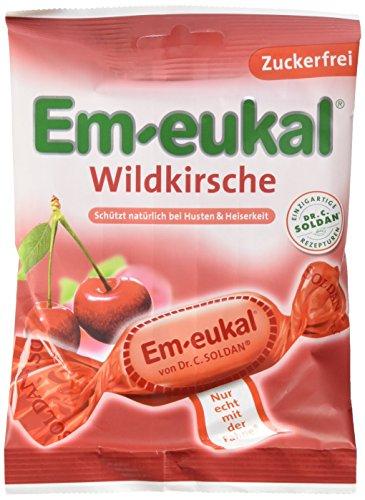 Em-Eukal Wildkirsch zuckerfrei, 20er Pack (20 x 75 g Beutel)