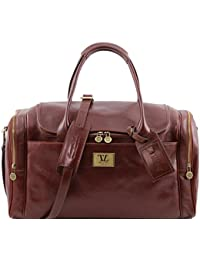 810494 - Tuscany Leather: Amsterdam - Sac De Voyage En Cuir, Marron