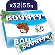 Bounty Milk Chocolate Bars, 55g x 32