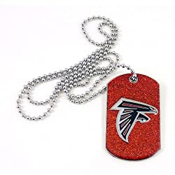 NFL Atlanta Falcons Glitter Dog Tag