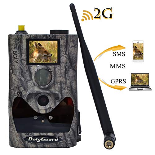 """BolyGuard Wildkamera mit Bewegungsmelder 18mP 1080p Weitwinkel Nachtsicht 20 m mit 1.4\"""" LCD Display IP66 Wasserdichtes Gehäuse für die Jagd und Heimtraining Fotofalle"""