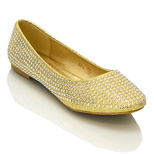 new-womens-diamante-bridal-glitter-flats-ladies-sparkly-bridesmaid-ballerina-pumps-shoes-size-3-4-5-