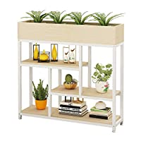 ZXCMNB Multi-layer Flower Shelf Indoor Living Room Solid Wood Shelf Floor Screen Partition Display Stand (Color : White)