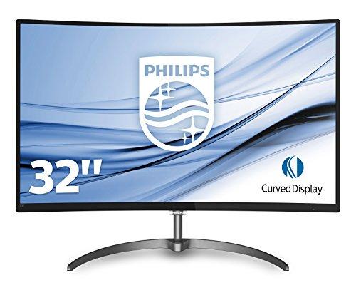 PHILIPS 328E8QJAB5/00 31.5-Inch Full HD VA Curved LED Computer Monitor - Black/Grey