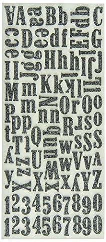 Sticko groß Alphabet Aufkleber Serif Schaum, Schwarz