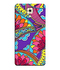 PrintVisa Designer Back Case Cover for Gionee M6 Plus (incredible electrifying blue purpule pink violet )