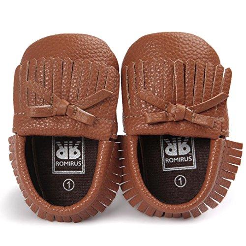 BZLine® Baby-Krippe Quasten Bowknot Schuhe Sneakers Casual Schuhe Kaffee