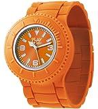 ODM Unisex Armbanduhr Flip-Strap Analog Quarz Silikon Orange 001-06 PP