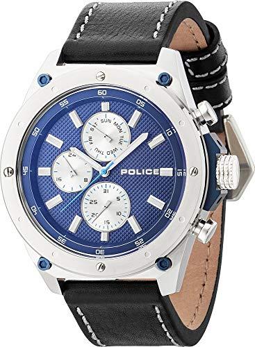 Police reloj para hombre colour azul/plata/borde azul PL14537JS, 03A