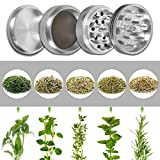 Cutlee Spice Herb Grinder Manual 4 part for Weed with pollen catcher or Kief Collector to collect honey dust, Crusher with Scraper