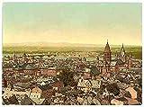Photo Mainz towards the Rhine the Rhine A4 10x8 Poster