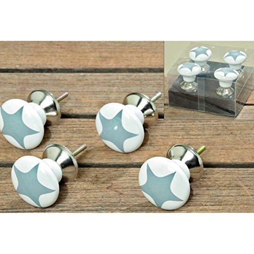 furniture-knob-set-of-4-porcelain-stars-grey-by-unbekannt