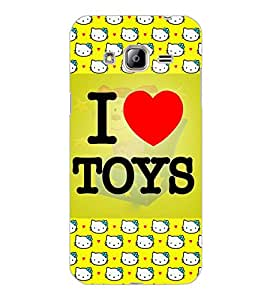 SAMSUNG GALAXY J3 2016 I LOVE TOYS Back Cover by PRINTSWAG