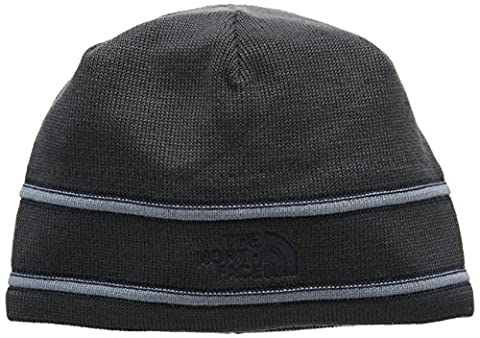 North Face Logo Beanie, Grey/Blue/Graphgy/Urbnnvy, One Size