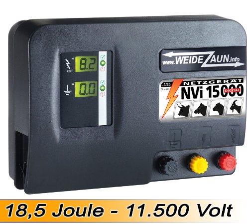 *18,6 Joule EXTREM STARKES 230V Weidezaungerät mit 11,500 Volt – Auch geeignet zur Wildschweinabwehr Wildabwehr Wildzaun*