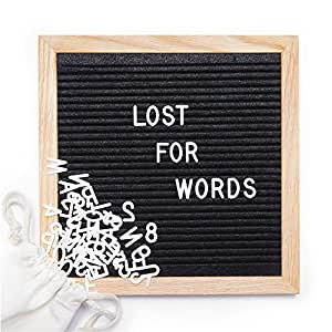 black felt letter board 10x10 inches changeable letter boards include 290 white plastic letters. Black Bedroom Furniture Sets. Home Design Ideas