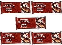 Harveys Crunchy & Creame Gourmet Delicacies Cream Wafer Biscuit 150 g Sticks - Chocolate Flavoured (Pack of 5)