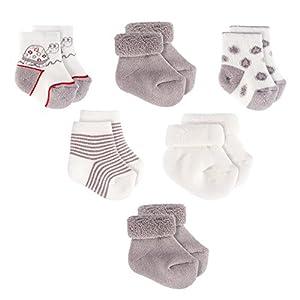 Jacobs Calcetines de recién nacido/Patucos bebé de algodón – Lote 6 pares (0-3 meses), Certificado Oeko-Tex Standard 100 – Color: Gris, Crudo