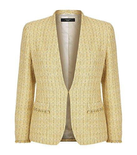 maxmara-weekend-anny-giacca-donna-monopetto-misto-cotone-e-lurex-made-in-italy-it44-giallo