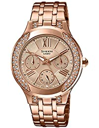 Casio Sheen Analog Gold Dial Women's Watch - SHE-3809PG-9AUDR (SX177)