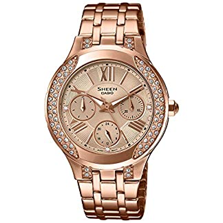 Casio Sheen Analog Gold Dial Women's Watch – SHE-3809PG-9AUDR (SX177)