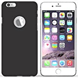 iSAVE Matte Rubberised Hard Case Back Cover For iPhone 6/6s (Black)