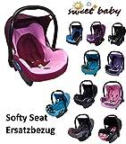 Sweet Baby * * Softy Protect Cabriofix * * Doux et épais rembourré Housse de rechange pour Maxi Cosi Cabriofix (Rose/Bordeaux)