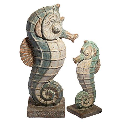 Design Toscano FU680070 Sea Biscuit Secabse Marine Fish Family - Figura Decorativa (21,59 x 34,29 x 64,77 cm), diseño de Caballito de mar