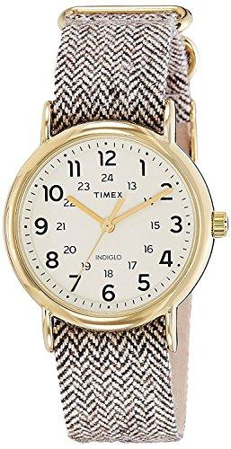 Timex Damen Analog Quarz Uhr mit Textil Armband TW2P71900