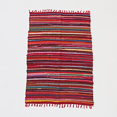 Fair Trade Handmade Recycled Rag Rug Large 6 x 4ft