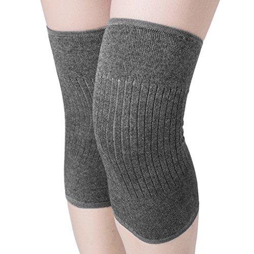 1 Paar Knieschoner Winter Wolle Kniebandage Kompression atmungsaktive Knieunterstützung Thermische Kniewärmer für Damen und Herren