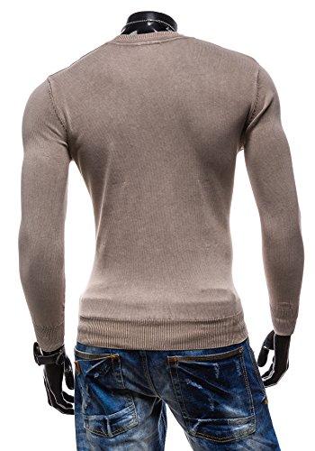 BOLF Herrenpullover Pulli Sweatshirt Sweatjacke Sweater S-WEST R916 Braun