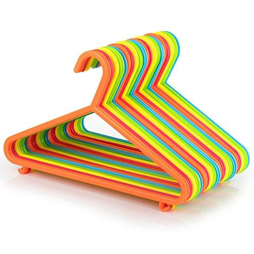 Hangerworld, set di grucce appendiabiti in plastica per bambini, 29 cm, multicolore, 40 pz.
