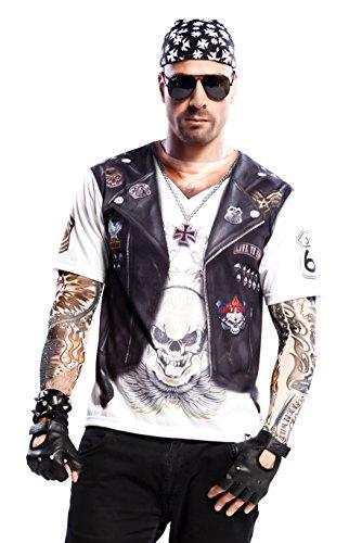 - Hell Boy T-Shirt, Erwachsene, M, weiß (Sons Of Anarchy Kostüme)