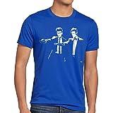 style3 Who Time Fiction T-Shirt Herren police doctor box space dr tarantino, Größe:XL;Farbe:Blau