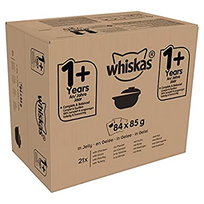 Whiskas 1+ Casserole Wet Cat Food for Adult Cats Poultry Selection in Jelly