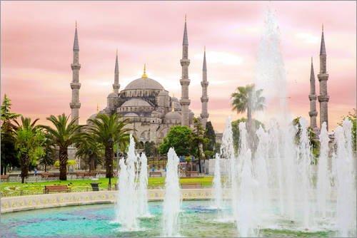 Posterlounge Acrylglasbild 100 x 70 cm: Blaue Moschee (Mavi cami) Istanbul/Turkey von gn Fotografie - Wandbild, Acryl Glasbild, Druck auf Acryl Glas Bild